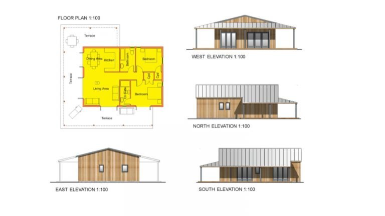 My Eco-Maison House Design | Floor Plan + Elevations